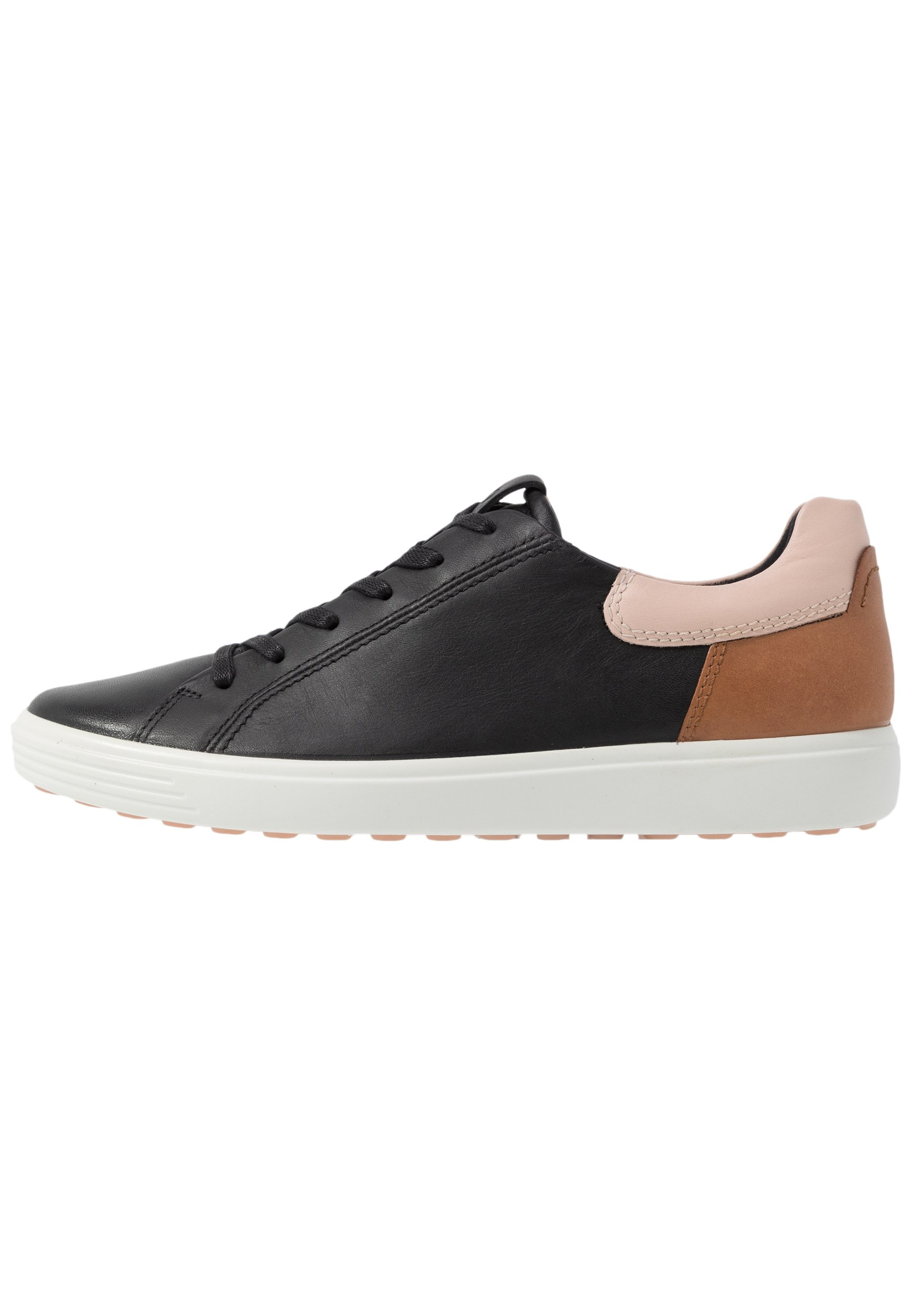 ecco ECCO SOFT 7 W - Sneakers - black/rose dust/lion