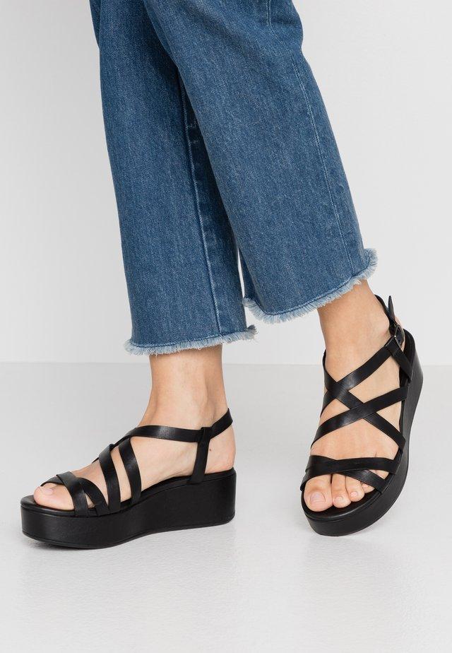 ELEVATE - Korkeakorkoiset sandaalit - black