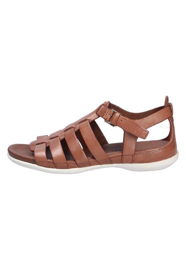 Sandaalit nilkkaremmillä - mahogany (02195)