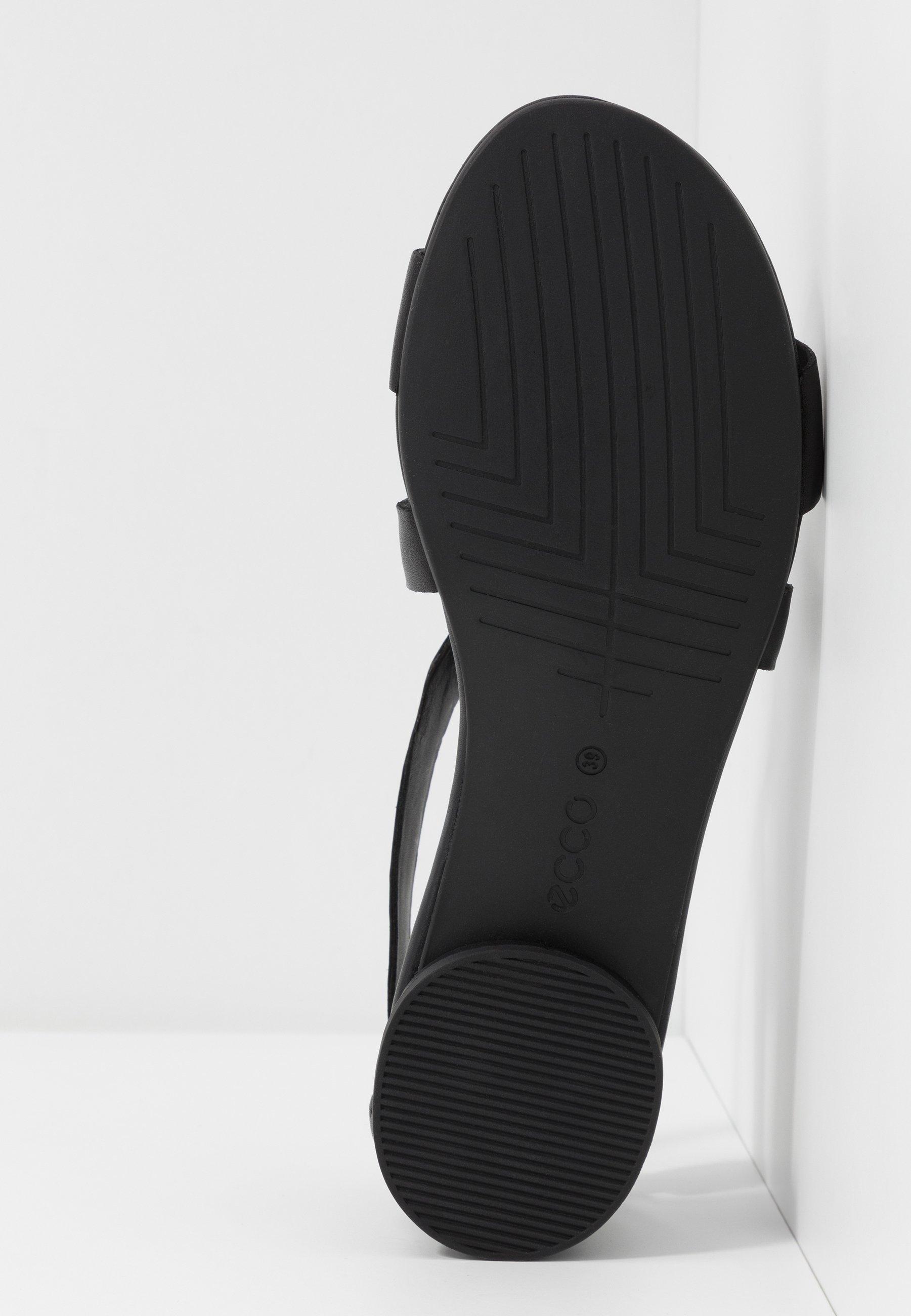 FLAT Sandaalit nilkkaremmillä black santiago