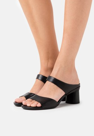 ELEVATE  - Heeled mules - black santiago