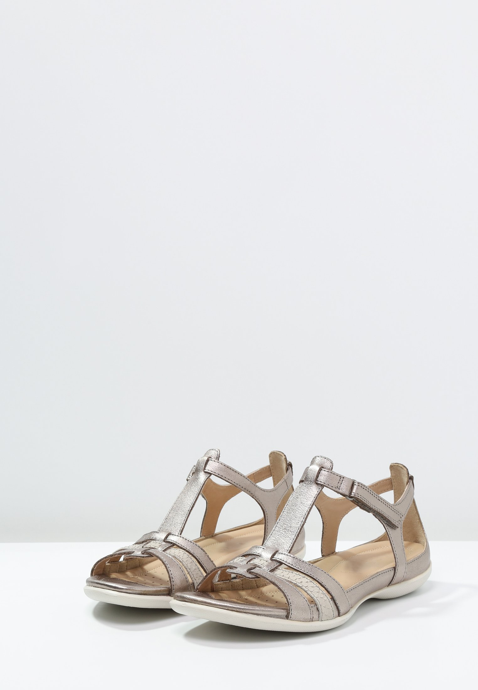 ecco Flash Sandals For Women Warm Grey MetallicMoon Rock