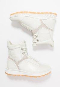 ecco - EXOSTRIKE  - Šněrovací kotníkové boty - shadow white/white/gravel - 3