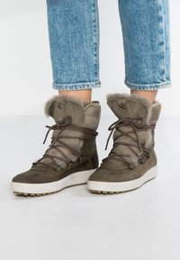 ecco - SOFT TRED - Zimní obuv - navajo brown/moon rock - 0