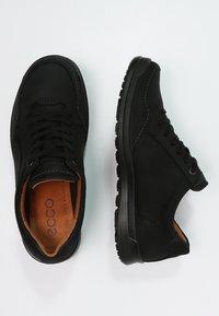 ecco - HOWELL - Volnočasové šněrovací boty - black - 1