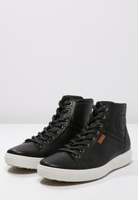 ecco - SOFT 7 - Höga sneakers - black - 2