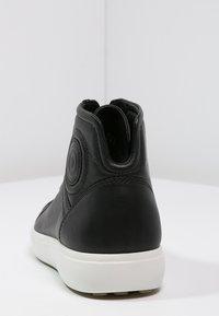 ecco - SOFT 7 - Höga sneakers - black - 3