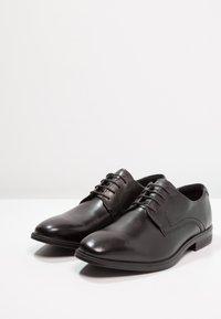 ecco - MELBOURNE - Elegantní šněrovací boty - black/magnet santiago/palermo - 2