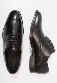ecco - MELBOURNE - Elegantní šněrovací boty - black/magnet santiago/palermo - 1