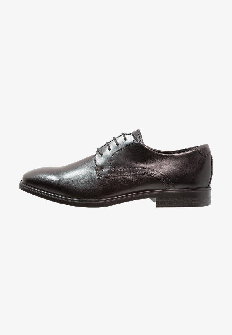 ecco - MELBOURNE - Elegantní šněrovací boty - black/magnet santiago/palermo
