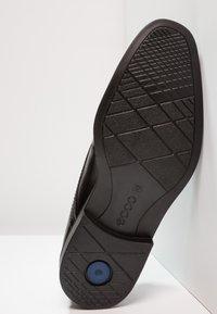 ecco - MELBOURNE - Elegantní šněrovací boty - black/magnet santiago/palermo - 4