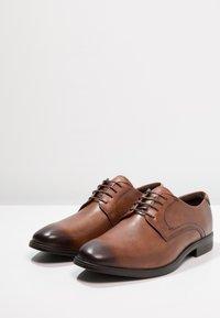 ecco - MELBOURNE - Elegantní šněrovací boty - amber the natural - 2