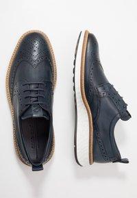 ecco - ST.1 HYBRID - Volnočasové šněrovací boty - denim blue - 1