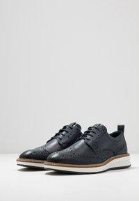 ecco - ST.1 HYBRID - Volnočasové šněrovací boty - denim blue - 2