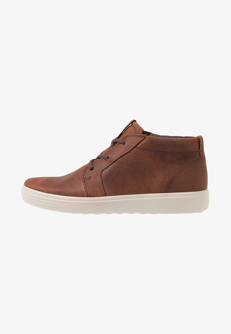 ecco - SOFT 7 - Höga sneakers - brandy