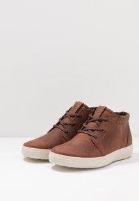 ecco - SOFT 7 - Höga sneakers - brandy - 2