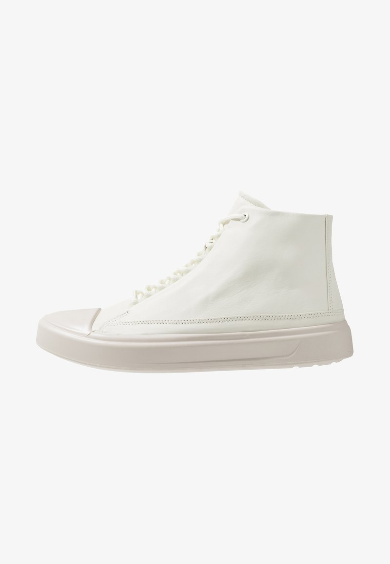 ecco - FLEXURE T-CAP - Höga sneakers - shadow white