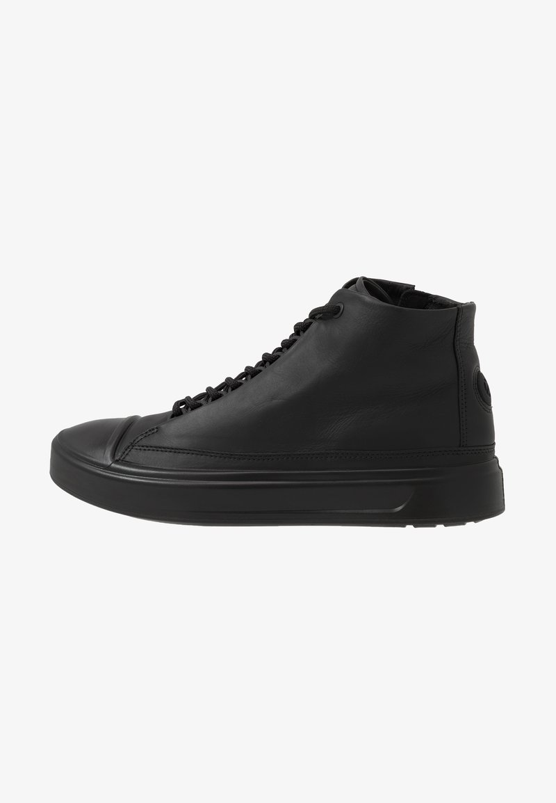ecco - FLEXURE T-CAP - Höga sneakers - black