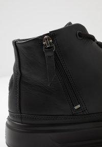 ecco - FLEXURE T-CAP - Höga sneakers - black - 5