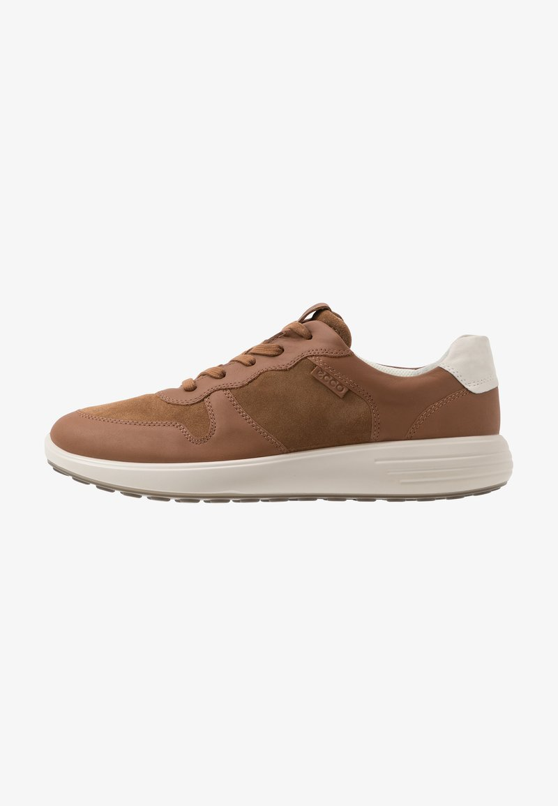 ECCO - SOFT RUNNER - Trainers - camel/shadow white