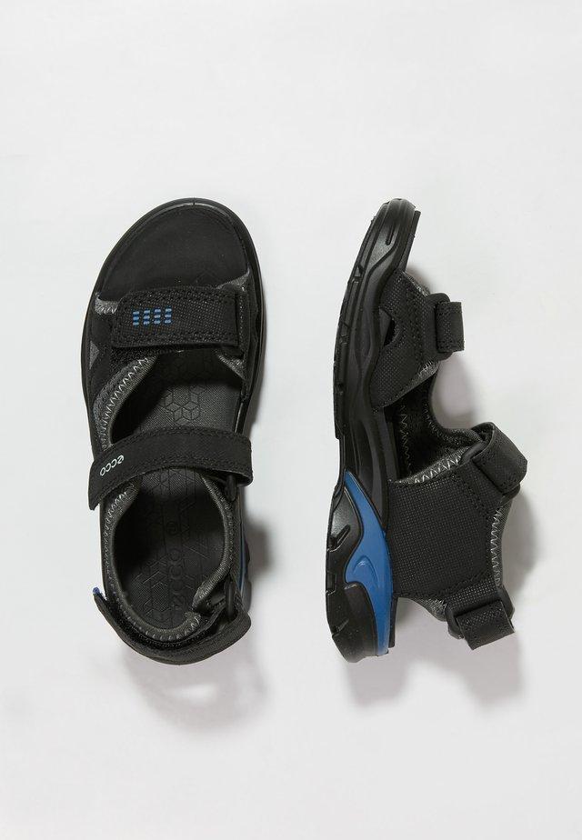 BIOM RAFT - Sandals - black/dark shadow