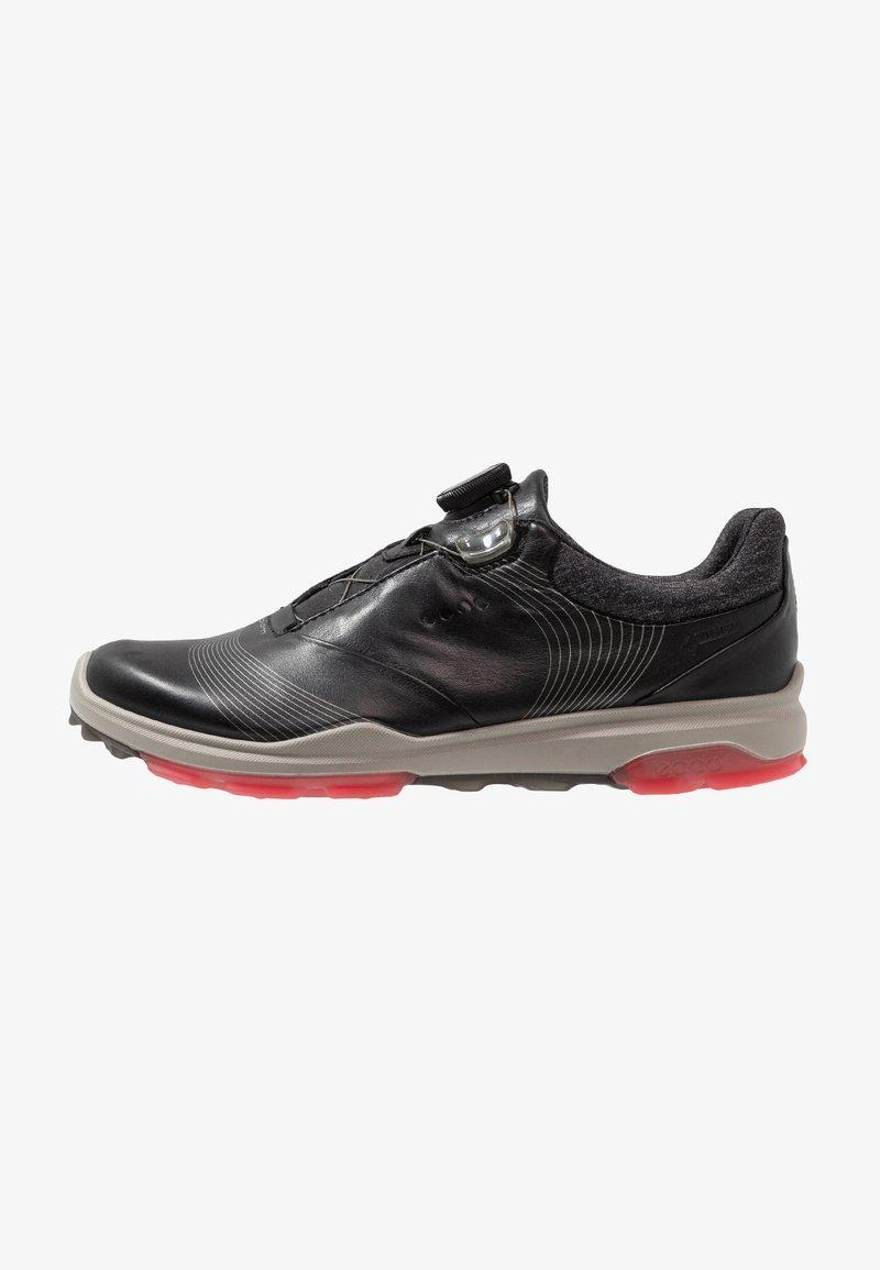 ecco - BIOM HYBRID 3 BOA - Golf shoes - black/teaberry