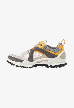BIOM C-TRAIL - Hiking shoes - gravel/merigold/white