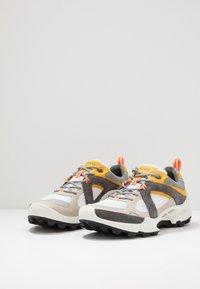 ECCO - BIOM C-TRAIL - Hiking shoes - gravel/merigold/white - 2
