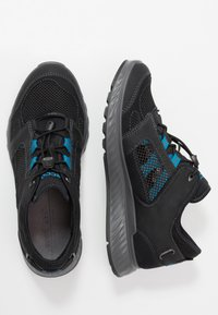 ECCO - EXOSTRIDE  - Hiking shoes - black/olympian blue - 1