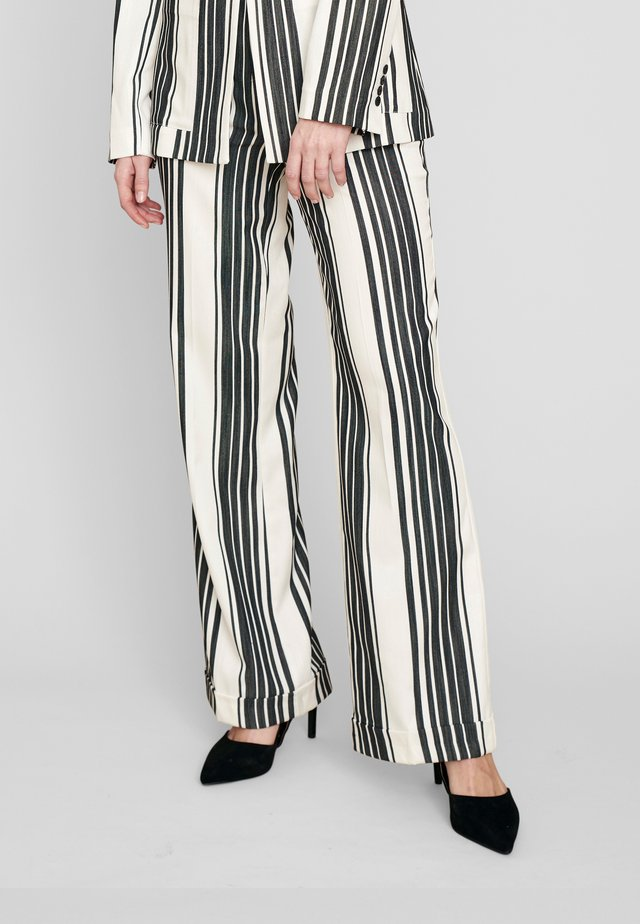 Pantalon classique - black/white