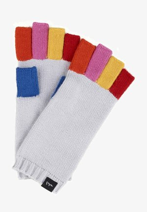 Fingerless gloves - light grey