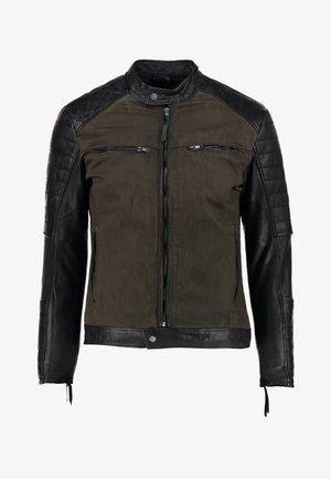 BEANDY D - Veste en cuir - khaki