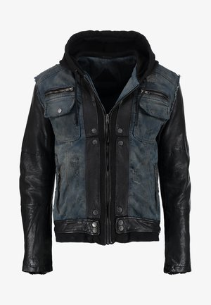 BEMAX D - Denim jacket - black/indigo