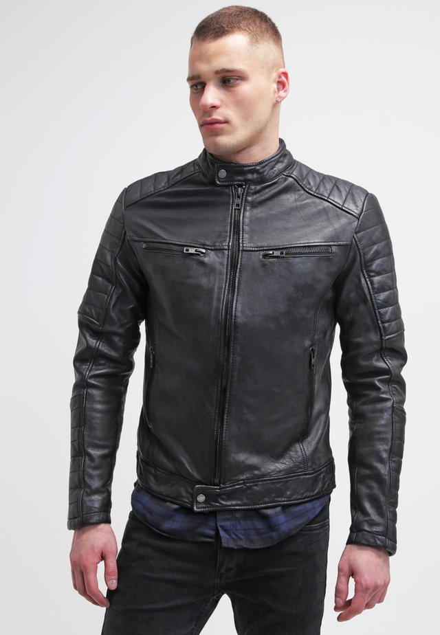 BEANDY - Leather jacket - black
