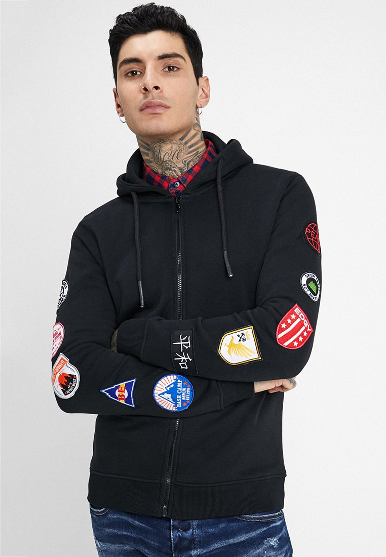 Be Edgy - BEWOLLF - veste en sweat zippée - black