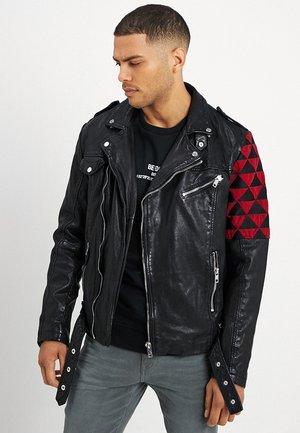 BEWARD - Leren jas - black