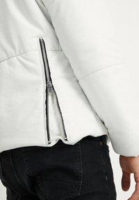 Be Edgy - BEDEMIR - Veste en cuir - white - 4