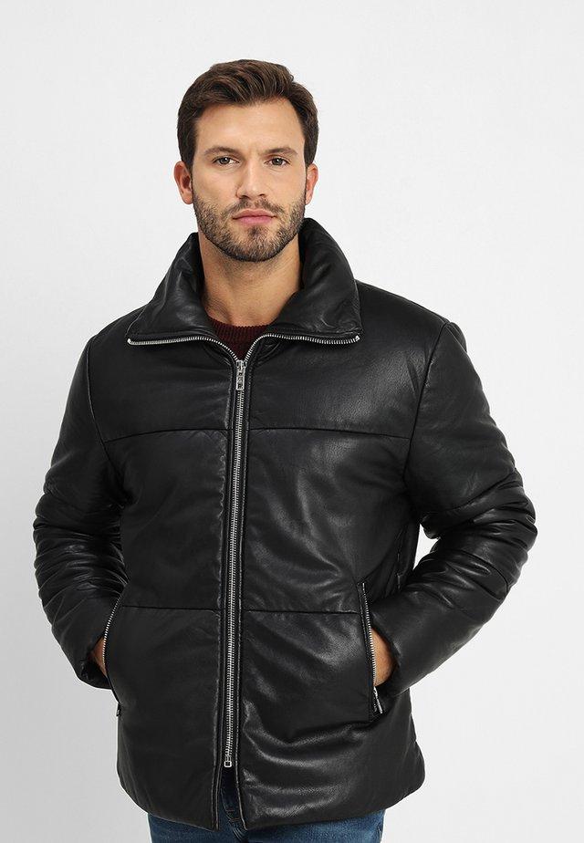 BEDEMIR - Leather jacket - black