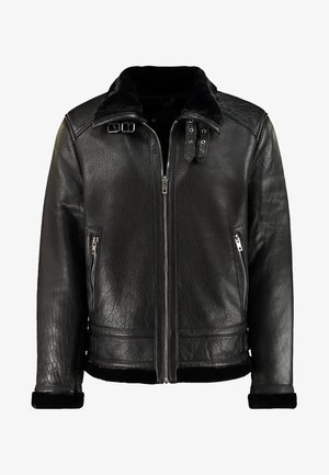 BEANDREW - Veste en cuir - black