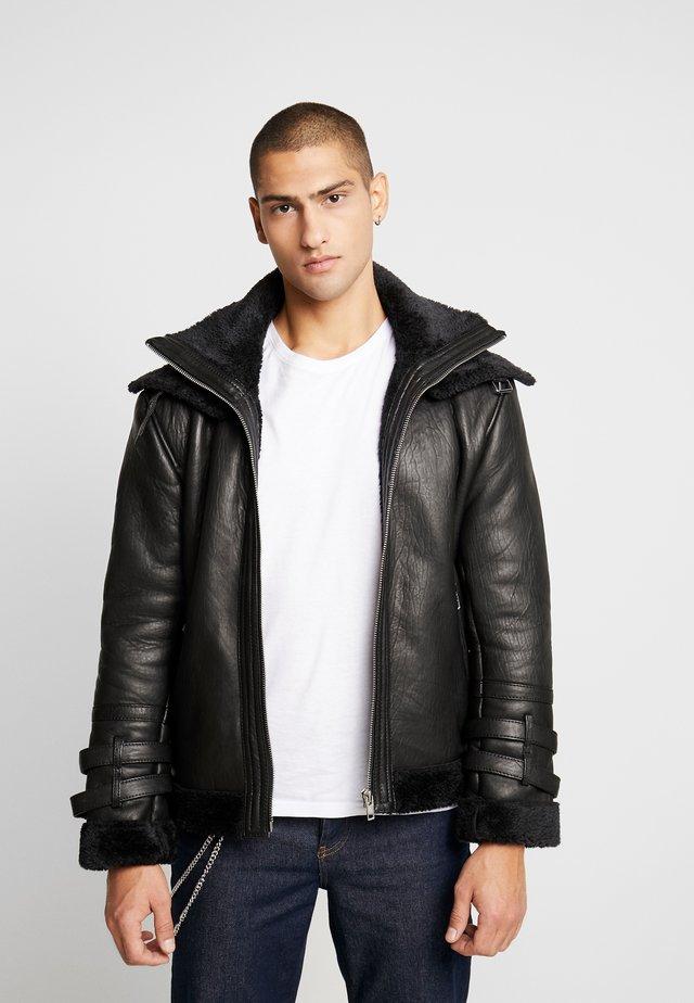 BECARL - Leather jacket - black