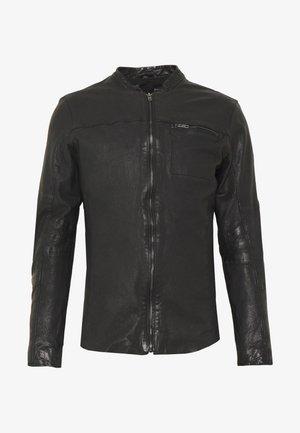BEJACEK - Chaqueta de cuero - black