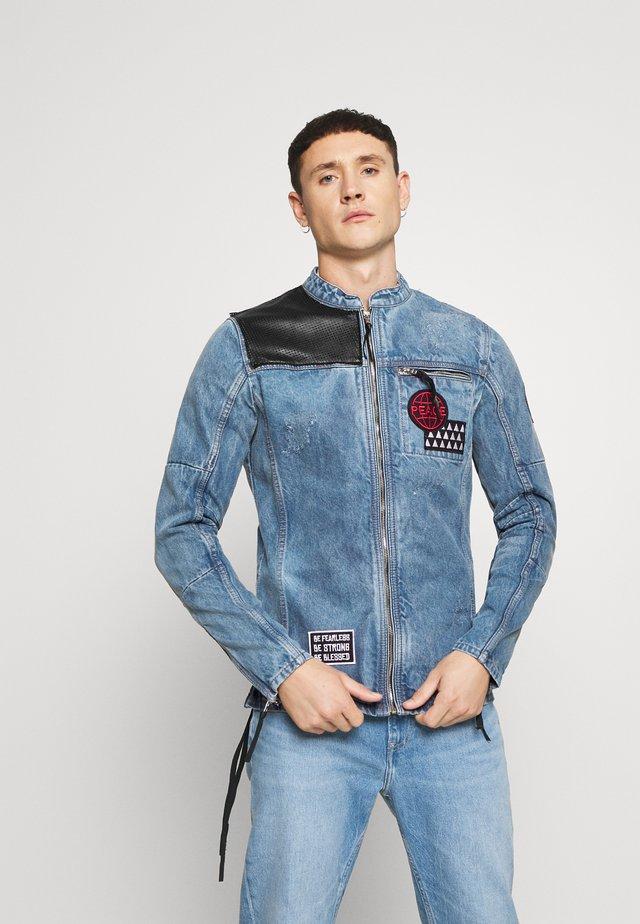 PHIL - Giacca di jeans - mid indigo
