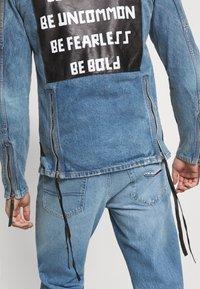 Be Edgy - PHIL - Kurtka jeansowa - mid indigo - 4