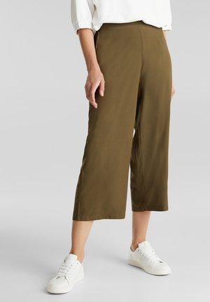MIT GUMMIZUGBUND - Trousers - khaki green