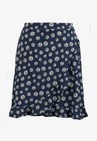 edc by Esprit - RUFFLE WRAP - A-snit nederdel/ A-formede nederdele - navy - 3