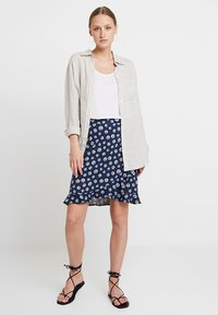 edc by Esprit - RUFFLE WRAP - A-snit nederdel/ A-formede nederdele - navy - 1