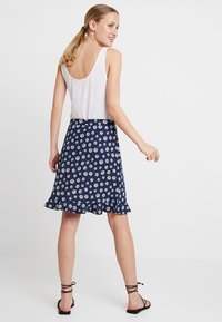 edc by Esprit - RUFFLE WRAP - A-snit nederdel/ A-formede nederdele - navy - 2