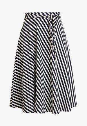 MIDI SKIRT - A-line skirt - navy