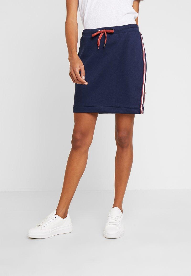 edc by Esprit - TAPE SKIRT - Mini skirts  - navy
