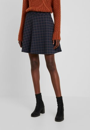CHECK SKIRT - A-line skirt - navy